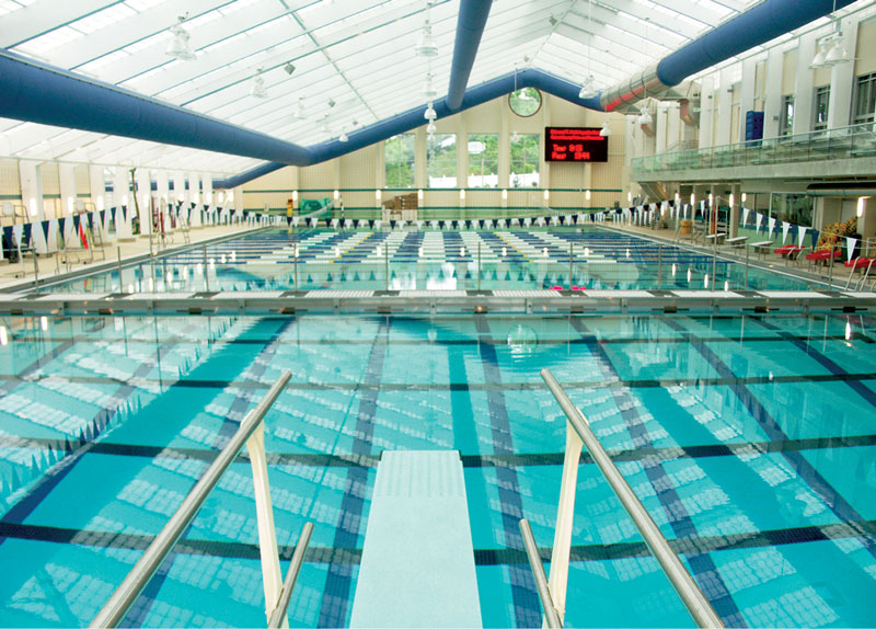 Indoor View of the Hall Aquatic Center