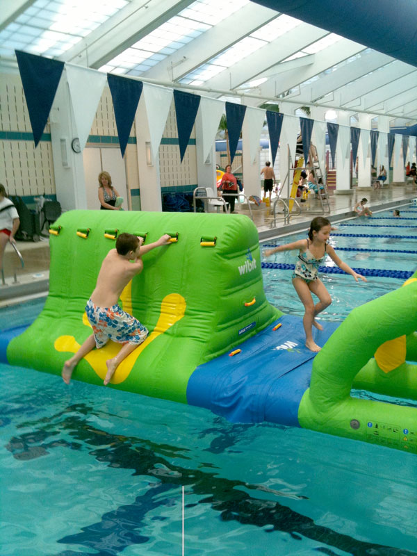 Hall Aquatic Center Inflatable Obstacle Course